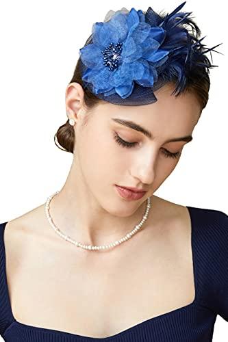 Coucoland - Tocado para mujer, elegante, diseño de flores, plumas, para bodas,...