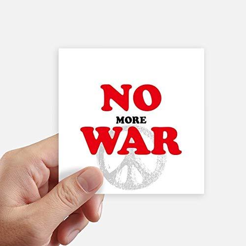 DIYthinker No More Guerre Mondiale Love Peace World Square Autocollants 10CM Mur Valise pour Ordinateur Portable Motobike Decal 8Pcs 10cm x 10cm Multicolor
