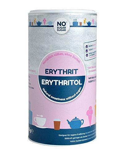 No Sugar Sugar Erythrit ohne Kalorien 0,4kg, 1kg, 4,5kg, 25kg, natürliches Erythritol Kalorienfrei, verwendbar als kalorienfreier Zuckerersatz, bekannt aus Supermarkt und Drogerie (1 kg)