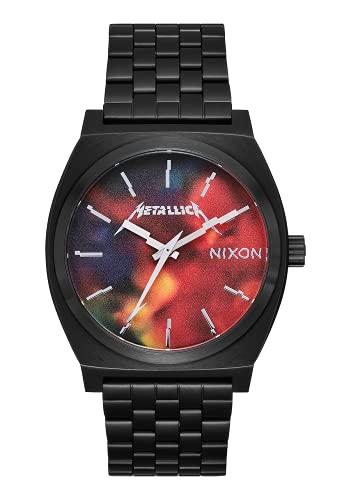 Nixon Colección Metallica para hombre, Time - Plato de cocina (colección Metallica), Negro/Hardwired, Una talla