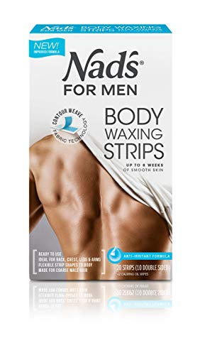 Nad's For Men Body Wax Strips, Pack of 20