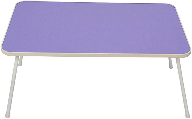 Portable Folding Laptop Desk Length 58cm  Width 35cm  Height 30cm (color   Light Purple)