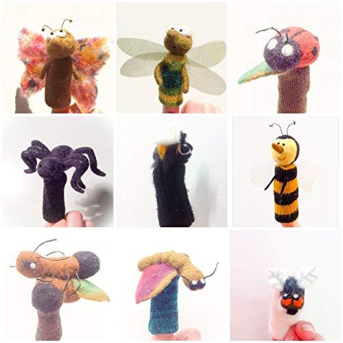 Insekten - 9 Fingerwollepuppen