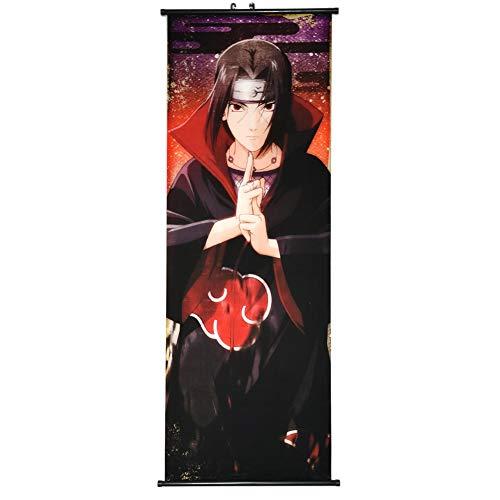 ALTcompluser Anime Naruto Rollbild/Kakemono Wallscroll Dekorative Wandbild Stoff Poster Hängendes Plakat, Wand Zimmer Deko(Uchiha Itachi)