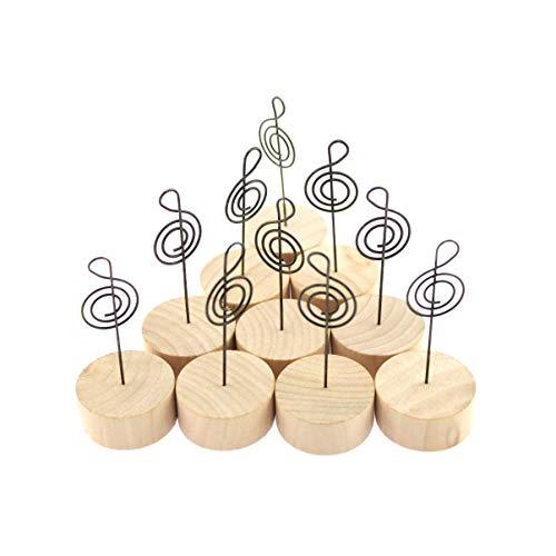 10個セットかわいい 音符 の メモホルダー メモクリップ メモスタンド 木製 写真立て 音楽 ピアノ バンド ミュージック 好き に