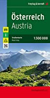 Austria, Folded West Road Map 1:300 000