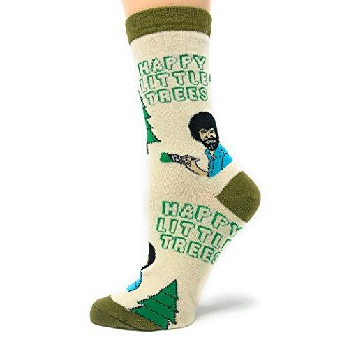 Damen Neuheit Crew Socken Exklusive Lustige Socken für Bob Ross Crazy Silly Socken Coole Mode Socken