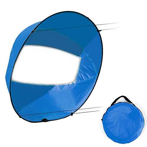 Lixada 42 Pulgadas Plegable Kayak Barco Vela De Viento Ultraligero Verano Surf Wind Paddle Vela Durable Viento a Favor De La Paleta Botes De Remo Viento Ventana Transparente