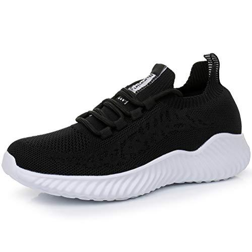 Dannto Hombres Mujer Zapatillas Calzado Deportivo Moda Casual Zapatos Tendencia Zapatillas Deportivas Zapatillas Deportivas Transpirables Fitness Casual (Negro,37)