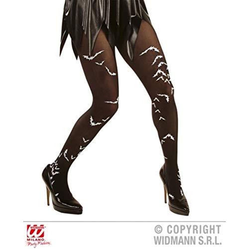 HAAC Strumpfhose Nylonstrumpfhose mit Fledermaus Halloween Fasching Karneval