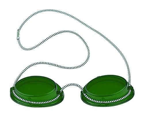 Solarium Schutzbrille grün UV Brille Solariumbrille mit Gummizug, 600005-grün