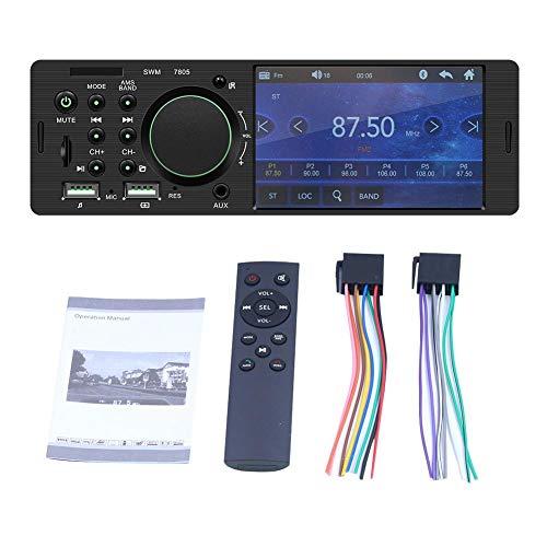 Juman634 Radio FM TFT 1 DIN Coche Pantalla táctil Radio Estéreo Bluetooth El transmisor FM MP5 El Reproductor Puede conectarse a la cámara de visión Trasera 4.1 Pulgadas