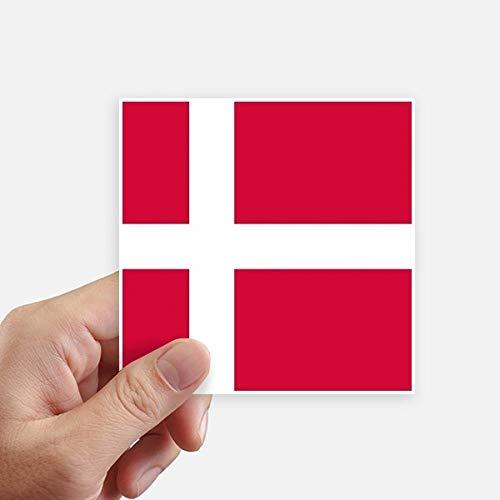 DIYthinker Drapeau National Danemark Europe Country Square Autocollants 10CM Mur Valise pour Ordinateur Portable Motobike Decal 8Pcs 10Cm X 10Cm Multicolor