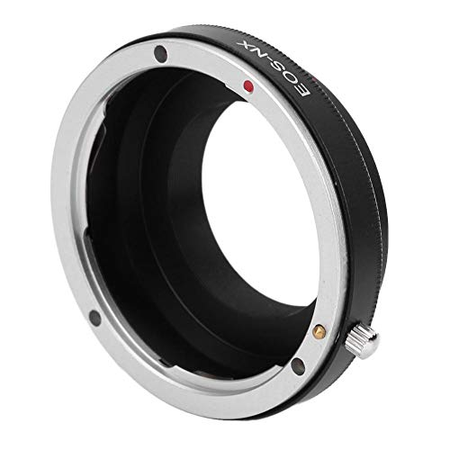 Anello Adattatore per Fotocamera EOS-NX, Anello Adattatore per Obiettivo in Lega di Alluminio per Obiettivo con Attacco Canon EOS per Fotocamera con Attacco Samsung NX