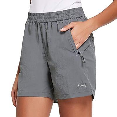 BALEAF Women's Hiking Shorts Quick Dry Lightweight Zipper Pockets Dark Grey Size S