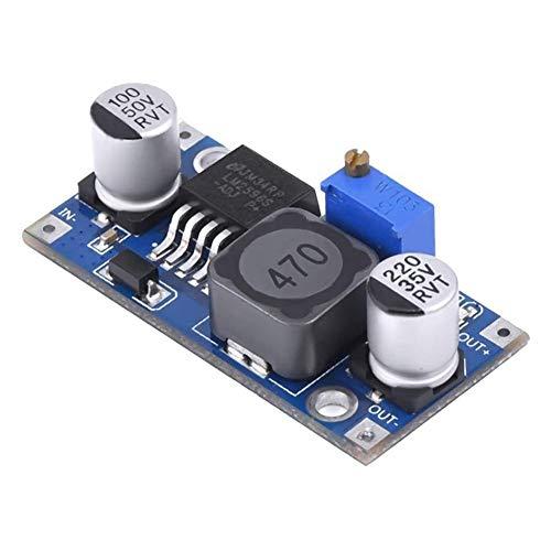 Convertidor de voltaje Riosupply – Regulador ajustable de 3 A, convertidor reductor, regulador de voltaje variable ajustable