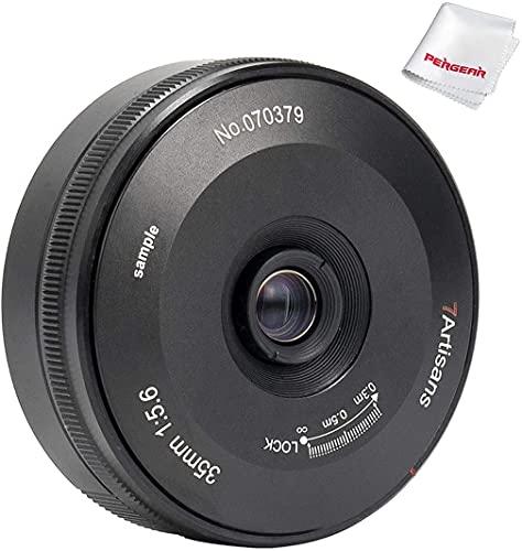 7artisans 35mm F5.6 パンケーキレンズ フルフレーム ソニーカメラに対応 マニュアルフォーカス 7III a7RIII a9 a7SII a7RII a7II a7S a7 a7R a6400 a6500 a6300 a5100 a6000 a5000などのソニーEマウントカメラ適応