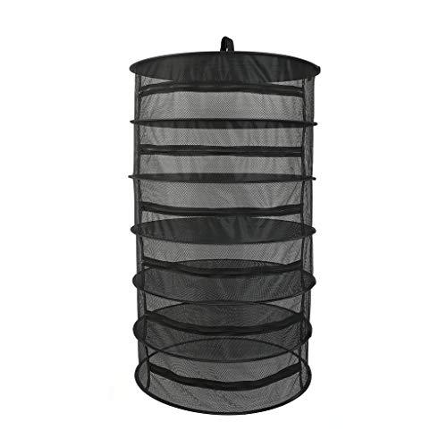 SXXYXH Plantendrogernet, kruidenrek, hangende hydrocultuur waxen tent afneembaar met draagtas, droogknop, ophanggesp en opbergzak, 6-laags