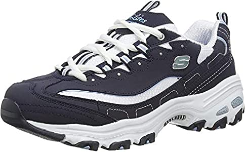 Skechers Women's D'Lites Biggest Fan 11930-nvw Low-Top Sneakers, Blue (Navy Trubuck/White Mesh/Carolina Blue Trim NVW), 4 UK 37 EU