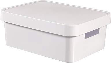 Curver 229282 Caja con Tapa , Blanco, 27 x 36,3 x 13,8 cm, 11 L
