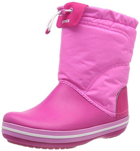 Crocs Unisex-Kinder Crocband Lodgepoint Boot Schneestiefel, Pink (Candy/Party Pink), 38/39 EU