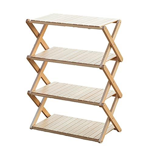 S'more(スモア) Woodi Folding Rack ラック キャンプ 4段ラック 56*28*77cm 木製ラック ウッド 折りたたみ ...