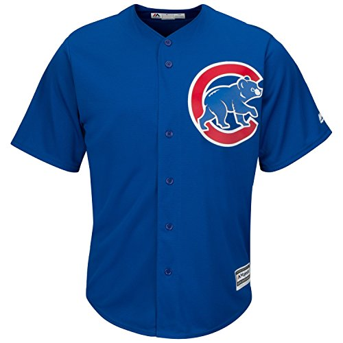 Majestic Chicago Cubs Cool Base MLB Trikot Alternate Blau M
