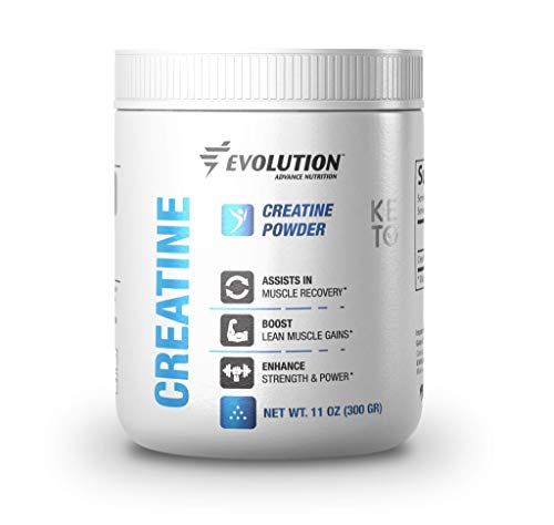 Evolution Advance Nutrition Pure Keto Creatine Monohydrate Powder – Supplement Support for Muscle Recovery and Enhanced Strength and Power, Ideal for Fasting and Training (60 Servings, 300 g)