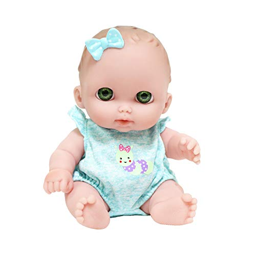 JC Toys Lil Cutesies 8.5' All Vinyl Baby Doll   Posable and Washable   Removable Outfit   Bibi - Green Eyes Ages 2+, 16936B