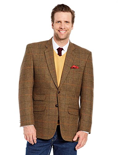Fittingroom Herren Tweed-Sakko Braun EU 58 Regular