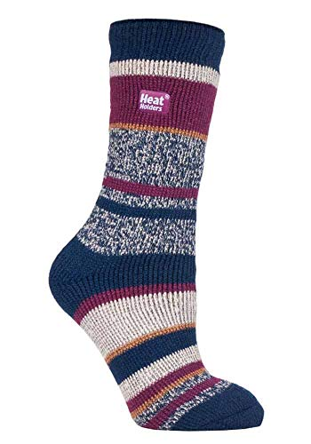 HEAT HOLDERS - Damen Warme Streifen Winter Thermosocken Socken Bunte Muster 37-42 eur (Fleckney)