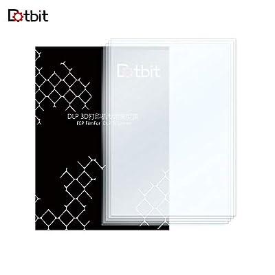 Aibecy Dotbit Professional FEP Film, 200 x 140 mm, 0.15 - 0.2 mm Thick Transparent Separator Film for Photon Resin 3D Printer, SLA DLP 3D Printer Accessory 5pcs