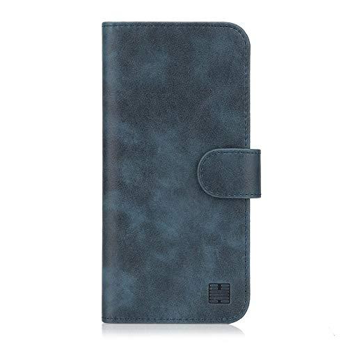 32nd Essential Series - PU Leder Mappen Hülle Flip Case Cover für Nokia 5.1 (2018), Ledertasche hüllen mit Magnetverschluss & Kartensteckplatz - Navy Blau