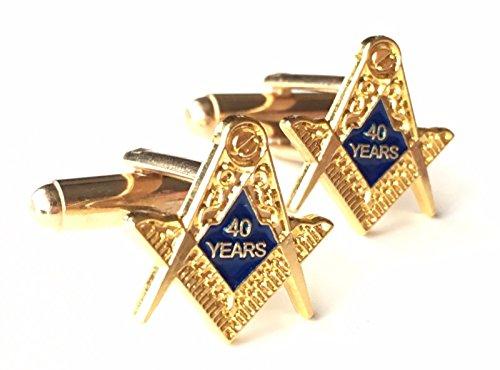 Symbole franc-maçon 40 ans d'une Mason de collection en émail Boutons de manchette Huppé (N52)