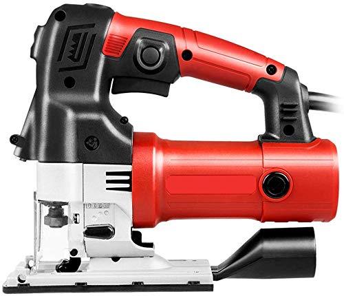 WUAZ 600W Multifunzione Jigsaw Strumenti, velocità A Vuoto 0-2600R / Min Spessore di Taglio 60Mm, 6 Speed Adjustment Quick Change Chuck Antiscivolo Maniglia