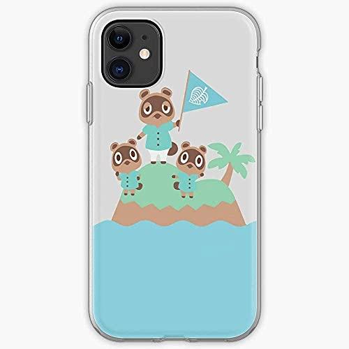 Cajas de teléfono Pure Clear and Tommy Crossing New Tom Horizons Animal Timmy Divertido Parachoques Ultrafino para iPhone Samsung Xiaomi Redmi Note 10 Pro/9/8/9A/Poco M3 Pro/X3 Pro Funda