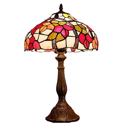 GDICONIC Table Lamp Lamp European Retro Creative Desk Lamp American Led Bedroom Glass Tiffany Style Art Bedside Table Lamp Table Light 30 * 50cm