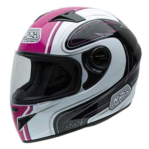 NZI Must Motorradhelm, Mehrfarbig, Weiß/Schwarz/Pink, 55-56