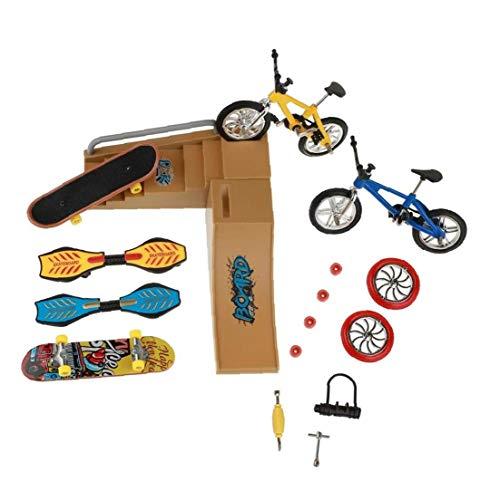 Gracy Patinetas Dedo Juguetes Set Parque del patín Kit Mini Scooter de Bicicletas monopatín Lugar Set para niños Manos de Formación 1 PackFinger monopatín