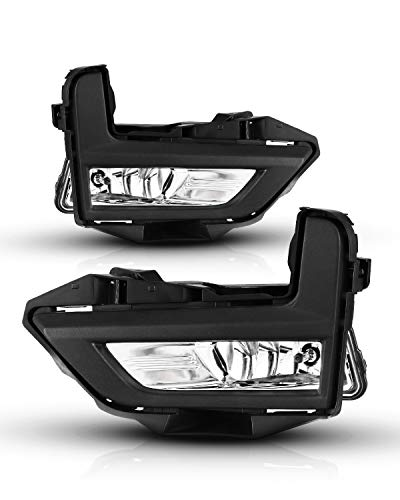 Fog Lights For Nissan Rogue 2017-2020 (Not Fit Sport Model) With Clear Lens Fog Light Assembly 2PCS OEM Replacement Fog Lamps AUTOWIKI (Switch and Wiring Kit Included)