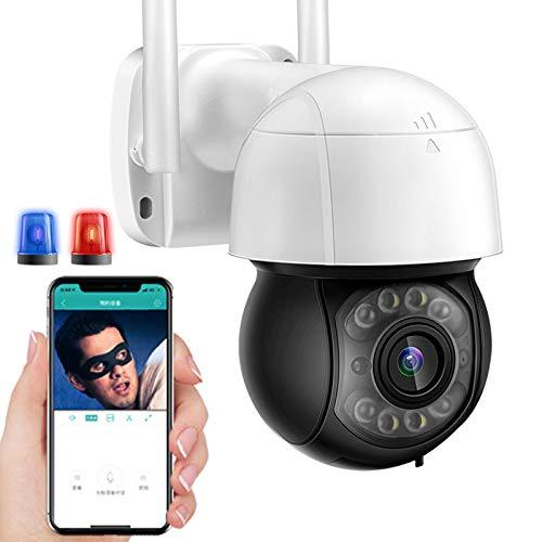 AINSS Cámara IP WiFi Exteriores PTZ IP Cámara de Vigilancia HD 1080P Exterior con Seguimiento Automático,30M Visión Nocturna,Alarma de Voz DIY,Audio Bidireccional,Control App,ONVIF 【WiFi-Cámara】