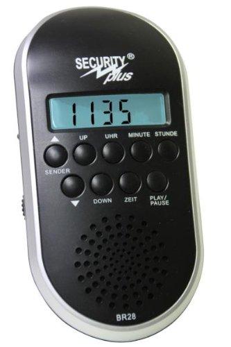 Security Plus ® Fahrrad Radio BR 28, Schwarz-Silber, 20 x 15 x 7 cm