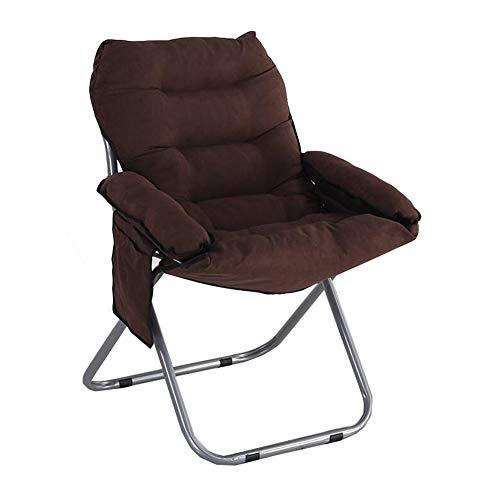 Dall Chaises Pliant Moon Round Chair Confort Chaise Soucoupe Salon Appartement Espace (Couleur : Brown)