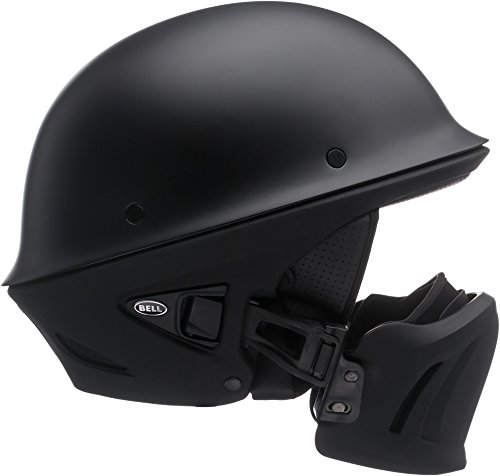 Bell Rogue Half-Size Motorcycle Helmet (Solid Matte Black, Large)