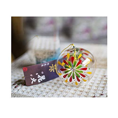 Name Handpaint campanas de viento hecho a mano de cristal Home texto name de dientes de estilo japonés (Fireworks)