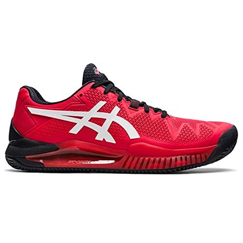 ASICS Gel-Resolution 8 Clay, Zapatos de Tenis Hombre, Electric Red White, 42.5 EU