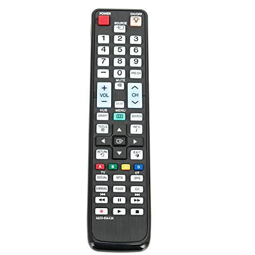 AA59-00443A Replace Remote for Samsung TV UN40D6300SFXZA UN55D6300SFXZA UN46D6300SFXZA UN32D6000SFXZA UN46D6050TFXZA UN46D6000SFXZA UN55D6050TFXZA UN40D6050TFXZA UN55D6000SFXZA UN40D6000SFXZA