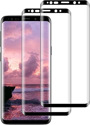 ZSYFFF S8 Plus Panzerglas [2 stück ], S8 Plus Schutzfolie 3D Vollständige Abdeckung[9H Härte][Anti-Kratzer][Wasserdicht] Panzerglas für Samsung Galaxy S8 Plus (mit Einbaupositionierer)