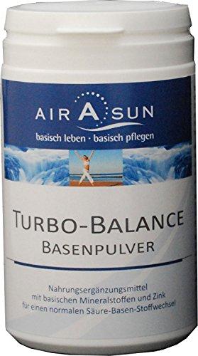 Basenpulver Turbobalance Airasun 350g - für den Säure Basen Haushalt mit Kalium, Calcium, Magnesium und Zink | Ideal bei Basenfasten • Sport • Diät