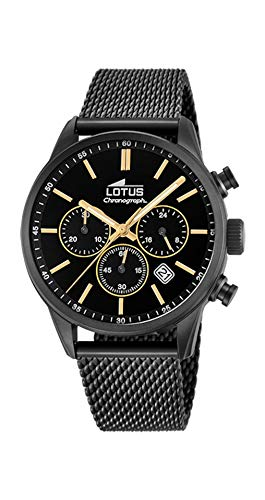 Lotus Reloj Cronógrafo para Hombre de Cuarzo con Correa en Acero Inox